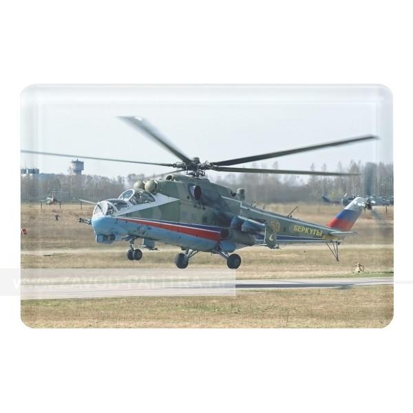 Магнит акриловый сувенирный Вертолёт МИ-24 макет 2