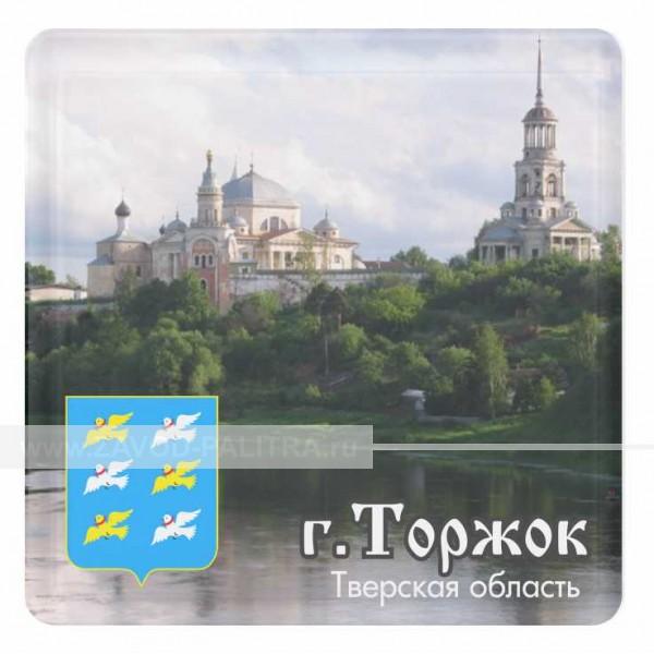 """Магнит акриловый """"Борисоглебский монастырь со вставкой 57х57"""" макет 2"""