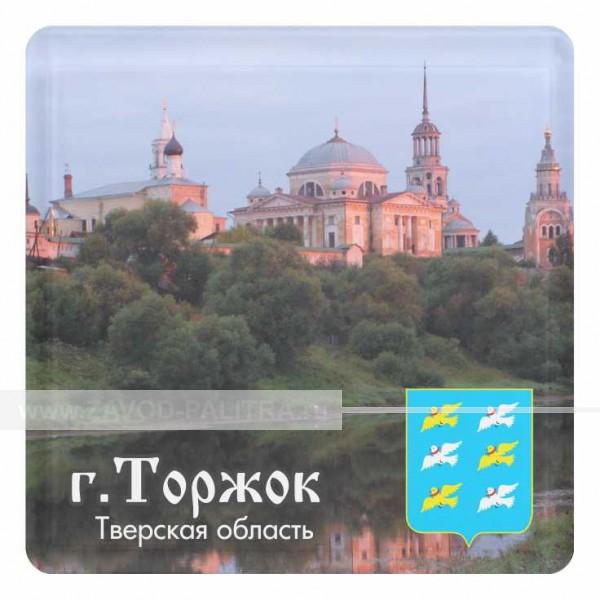 """Магнит акриловый """"Борисоглебский монастырь со вставкой 57х57"""" макет 7"""
