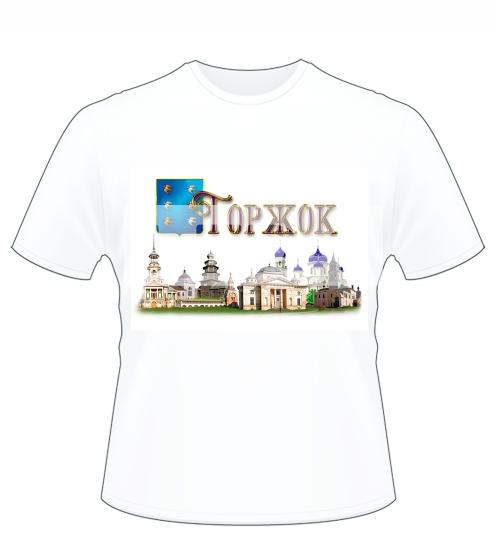 Футболка с видом города Торжок - город куполов