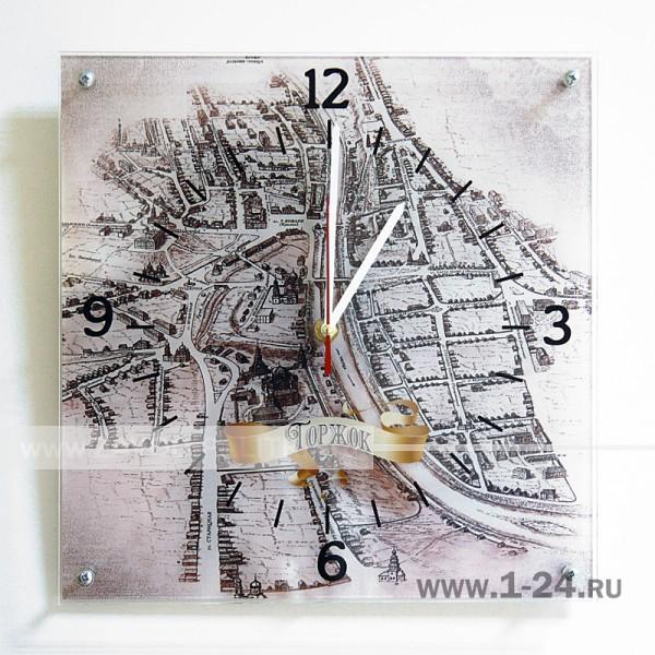 Старая карта Торжка, двойные со стеклом