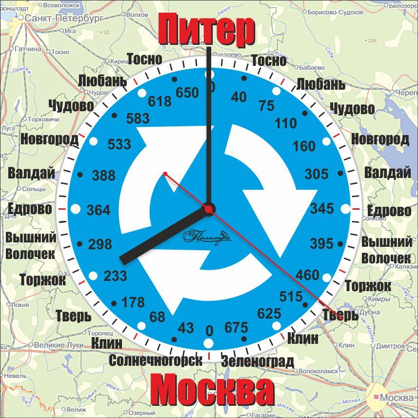 Москва-Питер, Одиночные часы