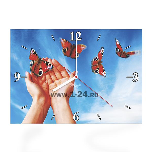 Руки с бабочками, двойные со стеклом