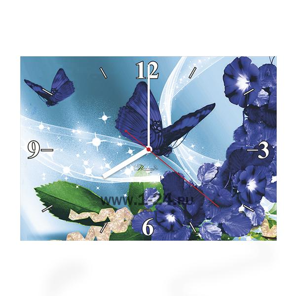 Синие бабочки, двойные со стеклом