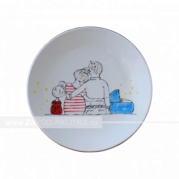Тарелка Белая Ф15 Семейные