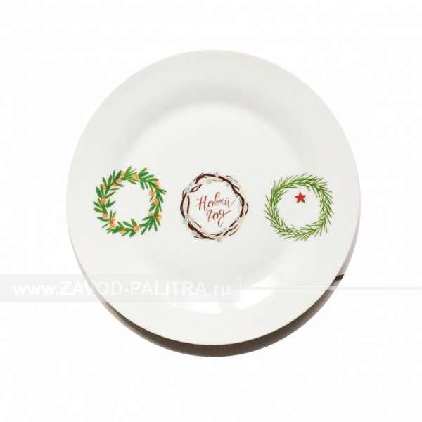 Тарелка Белая Ф15 Новый год