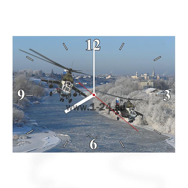 Ми-24, зимние полёты, двойные со стеклом