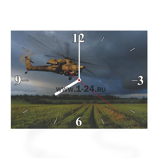 Ми-28 над полем, двойные со стеклом