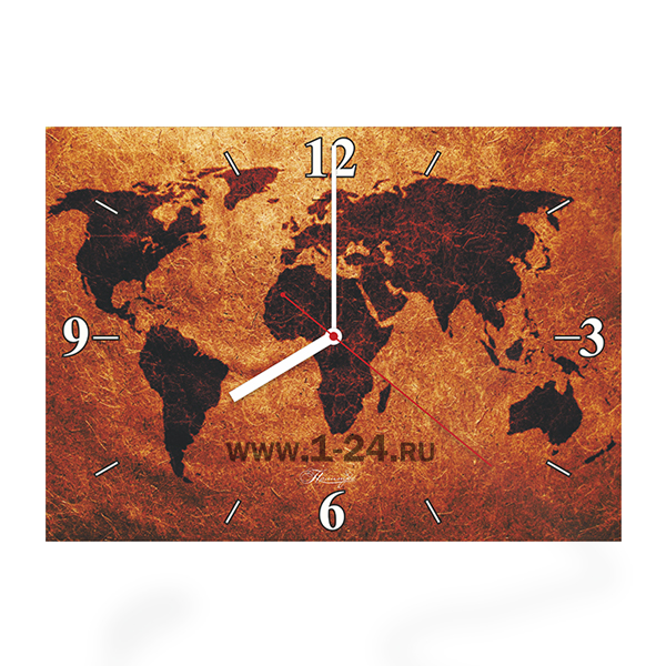 Карта мира, двойные со стеклом