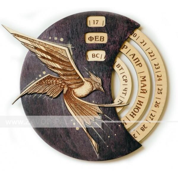 Настенный вечный календарь Птица