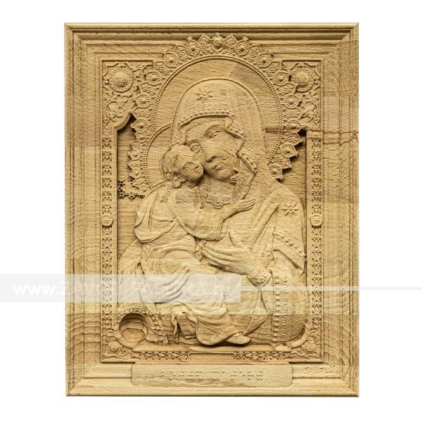 Икона из дерева Божией Матери 315х250