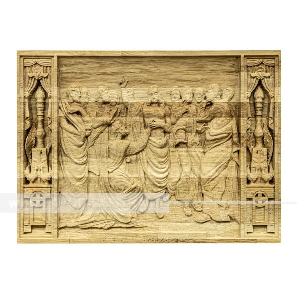 Икона из дерева Христос проповедует 435х317