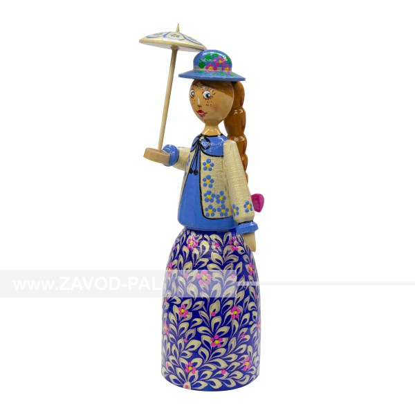 Кукла ручной работы Девушка с зонтиком
