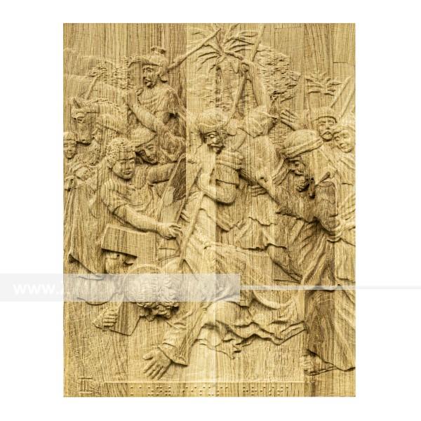 Икона из дерева Несение креста 250х320
