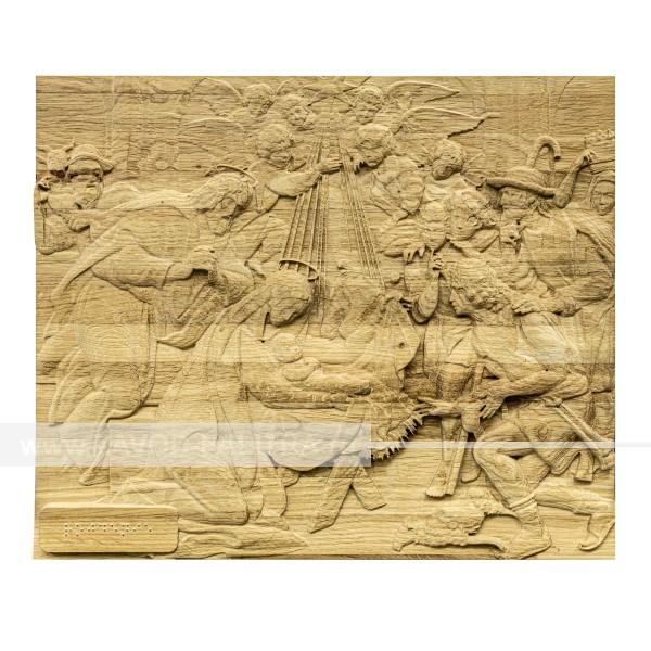 Икона из дерева Рождество Христово 320х380