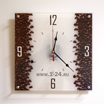 "Часы ""Кофейные столбы"" Арт. 00156"