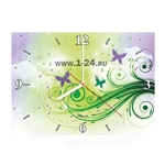 "Часы ""Фиолетовые бабочки"" Арт. 00351"