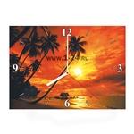 """Часы """"Пальмы на закате"""" Арт. 00391"""