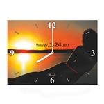 """Часы """"Девушка на закате"""" Арт. 00399"""