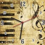"""Часы """"Винтажные ноты"""" Арт. 00501"""