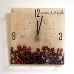 "Часы ""Кофе на холсте"" Арт. 00153"