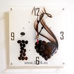 """Часы """"Я люблю кофе"""" Арт. 00155"""