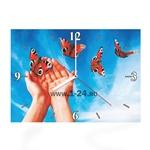 """Часы """"Руки с бабочками"""" Арт. 00348"""