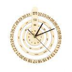 Часы деревянные с календарем Торжок 60115-4